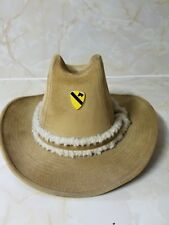 Tan GW Stetson Hat With Cavalry 1st Division Pin Hat Size: M (7 - 7 1/4)