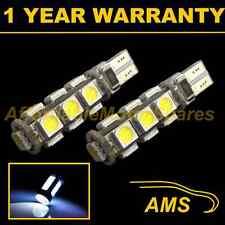 2x W5W T10 501 Errore Canbus libero BIANCO 13 LED Hi-Level FRENO Lampadine HID hbl101801