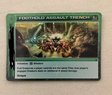 Foothold Assault Trench Super Rare Location Chaotic TCG Unused Code