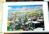 """Vintage 1000 Piece Jigsaw Puzzle - """"A Day At The Races"""" Complete - With Mat VGC"""
