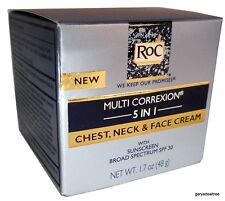 RoC MULTI CORREXION 5 IN 1 CHEST NECK FACE CREAM w/SPF 30 SUNSCREEN  5/18 Exp