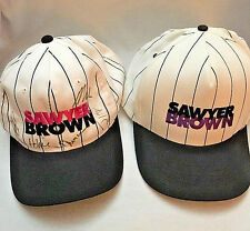 Two NEW Sawyer Brown Baseball Caps Snapback 1 Signed Autographed by Band Members