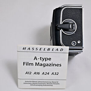 Hasselblad A12 6x6 film back magazine chrome later version (IV)