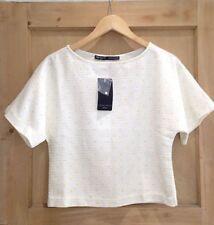 Zara Short Sleeve Singlepack Formal Tops & Shirts for Women