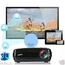 5000lumens 1080P Multimedia HD LED Projector Micro Home Theater Projector Black
