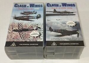 Clash Of Wings 1939-1945 2 Pack 6 Tape VHS Set Air War Documentary