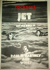 "PAUL McCARTNEY (Beatles) Jet 1974 UK Poster size Press ADVERT 16x12"""