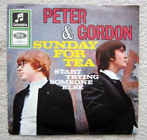 Single / PETER AND GORDON / BEAT 60er / SUNDAY FOR TEA / RARITÄT /