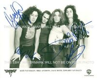 VAN HALEN WITH DAVID LEE ROTH SIGNED AUTOGRAPH 8x10 RP PHOTO CLASSIC ROCK BAND