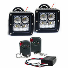 2 x Cube 20W LED Flood Fog Driving Light For Off Road Bar Wireless Remote