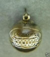 """UNKNOWN 5/8"""" ROUND FOOTBALL """"Y"""" CHAMPS NECKLACE PENDANT"""