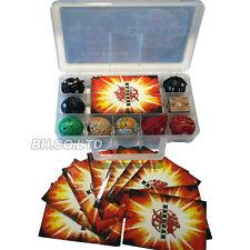 BAKUGAN 9pcs & 9 carta in metallo in diversi stili bakucase nuovo giocattolo Battle Brawlers