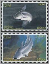 LAOS N°1590/1591** Poisson-Chat géant, 2005 Giant Catfish Sc#1661-1662 MNH