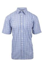 Men's Margate Casual Short Sleeve Check Summer Shirt Easy Care Plus Size To 5XL