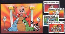 Antigua & Barbuda, 1990 WALT DISNEY 1393,1396,1397,1400, blocco 182 **, (24256)