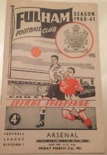 Arsenal Away Team First Division Football Programmes