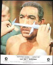 LA 25ÈME HEURE - Anthony Quinn / Virna Lisi - JEU 12 PHOTOS D'ÉPOQUE (1967)