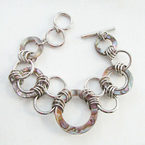 Lia Sophia Jewelry Abalone Bracelet in Silver