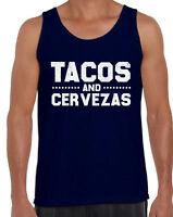 Tacos and Cervezas Tank Top for Men Cinco de Mayo Muscle Shirt Tacos Tank Top