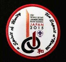 23rd world scout jamboree STAFF badge w 2 HOLES ON BACK for pin attachment 2015