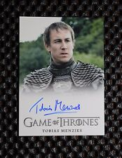 GAME OF THRONES SEASON 3 Tobias Menzies as Edmure Tully AUTOGRAPH CARD