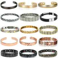 Copper Stainless Steel Magnetic Therapy Energy Bracelet Bangle Health Care