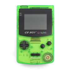 """GB Boy Colour Handheld Console for Gameboy Color Game 2.7"""" Backlit Crystal Green"""