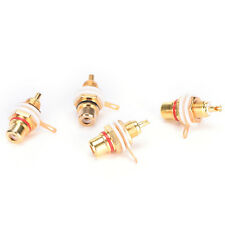 10PCS RCA Female Chassis Panel Mount Jack Socket Connector 24K Gold PHated PH