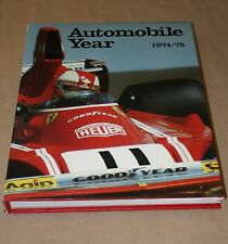 AUTOMOBILE YEAR #22 1974/75 EXCELLENT CONDITION WITH DUST COVER RACING COVERAGE