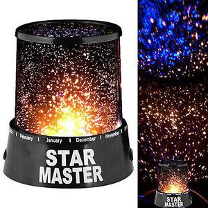 LAMPADA PROIETTORE DI STELLE LED CAMERETTA EFFETTO CIELO STELLATO STAR MASTER