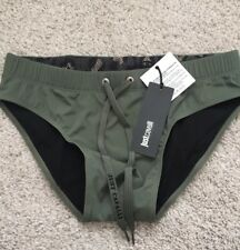 Just Cavalli Khaki Green Swim Briefs Small BNWT RRP£59 Free Postage!