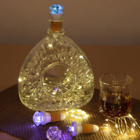 LED Fairy Light USB Cork Wine Bottle Stopper Rechargeable Romantic Xmas Party