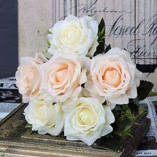 Artificial Flowers Fake Silk Roses Bridal Bouquets Home Wedding Party Decoration