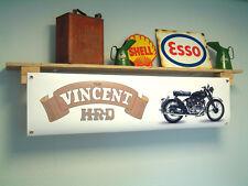 Vincent HRD workshop Motorcycle Banner pvc sign, Rapide - Black Shadow - Comet