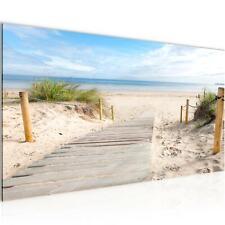 Wandbilder XXL Modern Wohnzimmer - Strand Meer  Beige Blau - Schlafzimmer Bilder