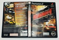 BurnOut Revenge Battle Racing Sony PlayStation 2 CIB Complete Manual