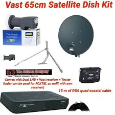 satellite dish kit 65cm lnb twin output foxtel vast compatible digital tv FTA A1