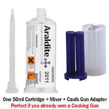 Araldite 2011 Slow-Set All-Purpose Epoxy-50ml + Caulk Gun Adapter
