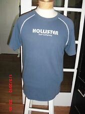 Hollister Co Blue 100% Cotton T-Shirt Short Sleeve Unisex Size X Large