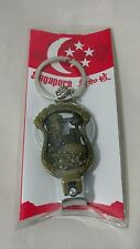 """Awesome 2.5"""" Bronze Look Souvenir Keychain Singapore City Dragon Heart  Star New"""