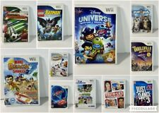 Nintendo Wii Game Lot of 11 Batman, Just Dance 3, Cars 2, Thrillville, Purr Pals