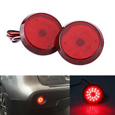 Round Red LED Tail Rear Bumper Ground Reflector Light For Toyota Corolla 09-10