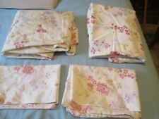 Four Piece Printed Floral Bed Sheet Set Beautiful New!  Queen size