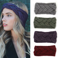 Women's  Head Wrap Ear Warmer Wide Crochet Knot Turban Knitted Hairband Headband