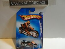 2009 Hot Wheels #154 Black/Orange Canyon Carver Motorcycle