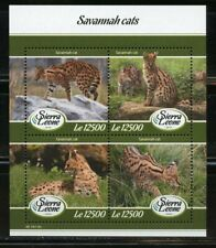 Sierra Leone 2019 Savannah Cats Sheet Of Four Mint Never Hinged