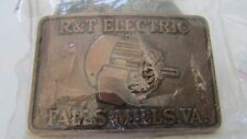 Vintage R&T Electric Fall Mill, VA. Belt Buckle in the Box