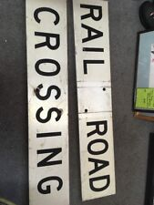 Vintage Railroad Crossing Sign 4ft in length