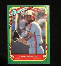 ANDRE DAWSON 1987 FLEER AUTOGRAPHED SIGNED AUTO BASEBALL CARD 33 HOF