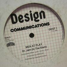 "Men At Play(12"" Vinyl)Dr Jam-Design Communications-DEST1-1983--G/Ex"